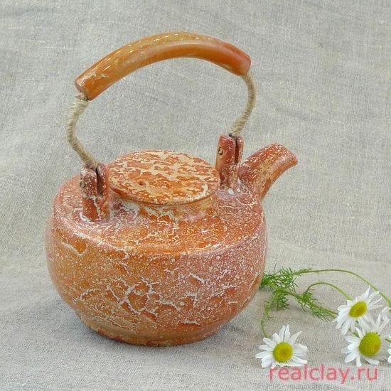 Чайник керамический ручной работы