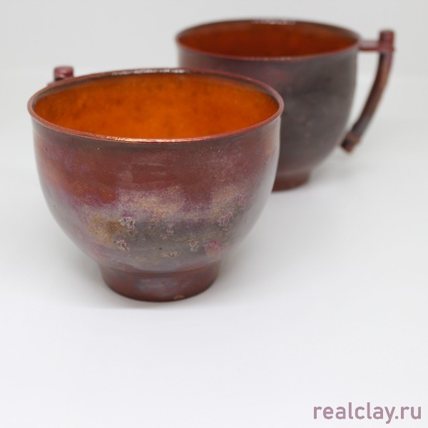 Две керамические чашки раку