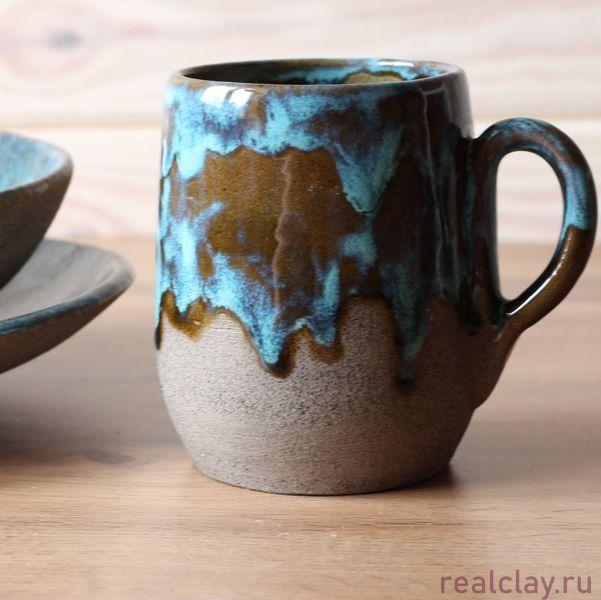 Набор керамической посуды ручной работы