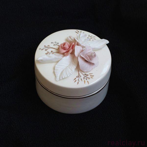Керамическая шкатулка для украшений