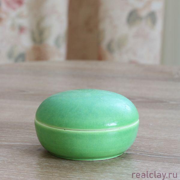 Шкатулка зеленая