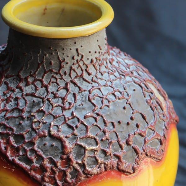 Керамическая ваза ручной работы, раку